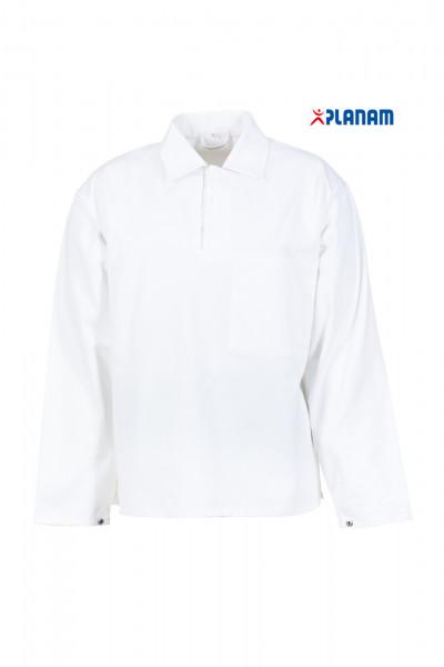 Planam Food Herren Schlupfhemd Hemd Arbeitshemd 5370 Reinweiß