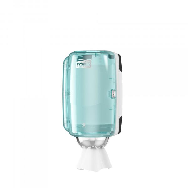 Tork (M1) Mini Innenabrollungsspender für Papierwischtücher Handtuchrolle türkis/weiß - 658000