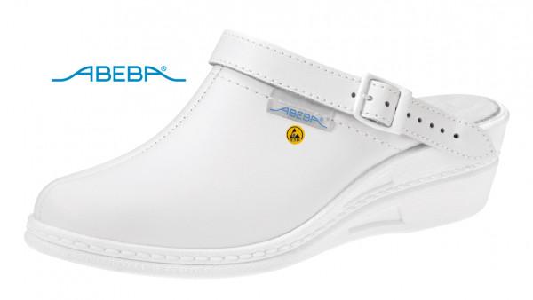 ABEBA High Original 7002|5004 ESD Berufsschuh Clog Arbeitsschuh Pflegeschuh Arztschuh weiß