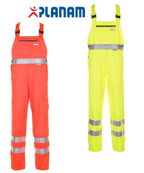 Planam Warnschutz Latzhose Arbeitshose Arbeitslatzhose Größe 24 - 110, in 2 Farben