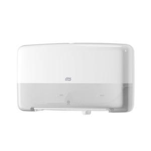 Tork (T2) Toilettenpapierspender WC-Papier Spender Doppel Mini Jumborollenspender weiß - 555500