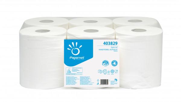 Handtuchpapierrolle Oversoftmatic weiß, 2-lagig, 20 cm x 140m