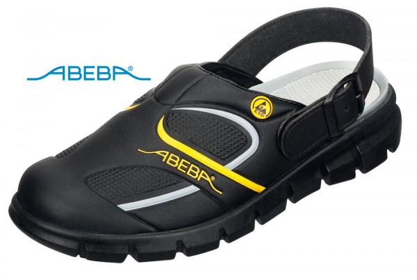 ABEBA Dynamic 37333 ESD Berufsschuh Clog schwarz/gelb