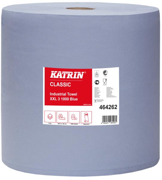 Katrin Classic Putzpapierrolle 3-lg. 38x38 cm blau - 464262