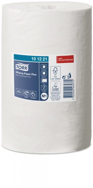 Tork (M1) Mini starke Mehrzweck-Papierwischtücher Handtuchrolle 2-lagig, weiß, 11 Rollen - 101221