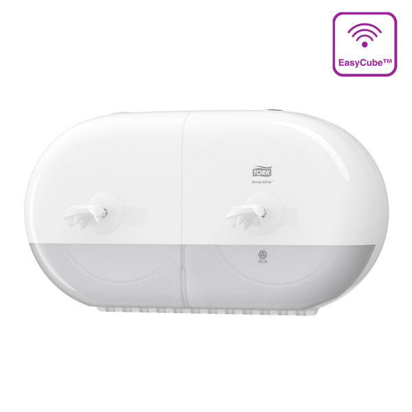 Tork (T9) SmartOne® Mini Doppel-Toilettenpapierspender WC-Papier-Spender weiß - 682000