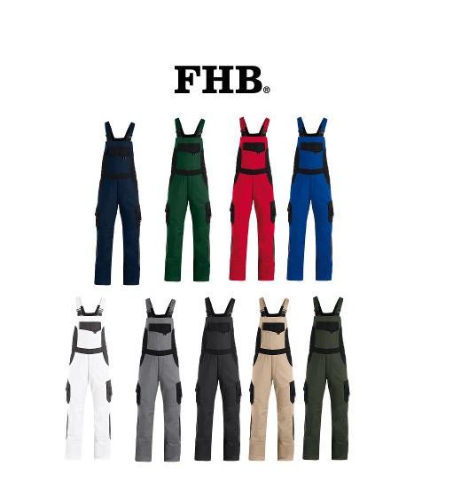 FHB Eckhard Twill Arbeitshose Latzhose Größe 23 - 114, in 9 Farben