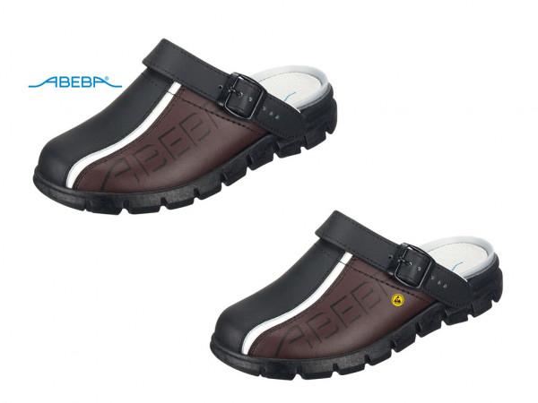 ABEBA Dynamic 7315   37315 ESD Berufsschuh Clog schwarz/braun