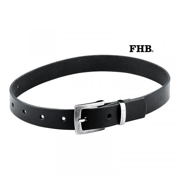 FHB Hilbert Kinder Ledergürtel Arbeitsgürtel Eindorn 85003 Schwarz Größe 60 cm