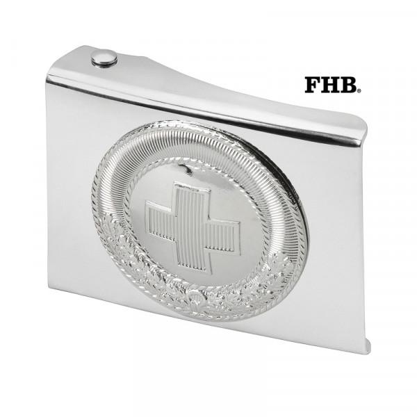 FHB Henry Koppelschloss Arbeitsgürtel Gürtel Koppel -DRK- 872243 Silber