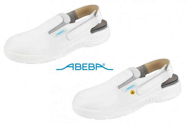 ABEBA X-Light 711030|7131030 ESD Sicherheitsschuh Clog Stahlkappe Küchenschuh Arbeitsschuh weiß