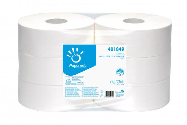 Toilettenpapier Gigant, 2-lagig, weiß, 380 m, 6 Rollen - 401849
