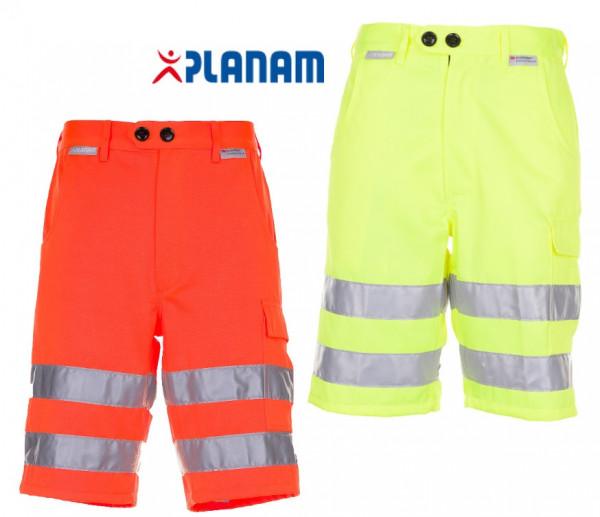 Planam Warnschutz Shorts kurze Arbeitshose Größe S - 4XL, in 2 Farben