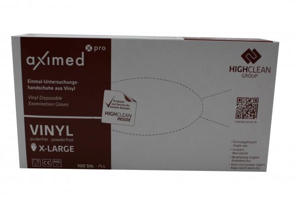 Aximed - Einmal-Untersuchungshandschuhe Vinyl transparent Gr. XL