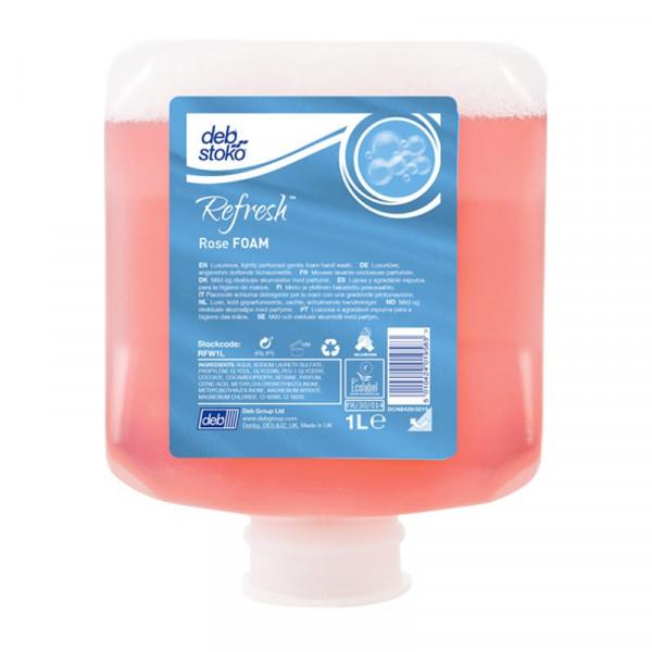 Refresh™ Rose FOAM 1 Liter Kartusche (ehemals Deb® Rose FOAM Wash)