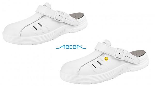 ABEBA X-Light 711041|7131041 ESD Sicherheitsschuh Clog Stahlkappe Küchenschuh Arbeitsschuh weiß