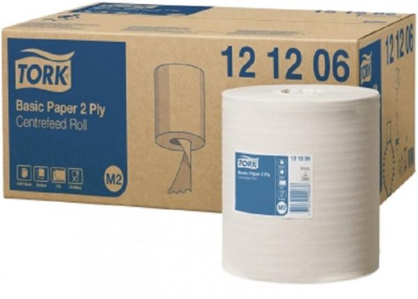 Tork (M2) Standard-Papierwischtücher 2-lagig, weiß, 6 Rollen - 121206