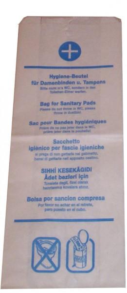 Hygienebeutel Papier mehrsprachig bedruckt 1000 Stück - 480190