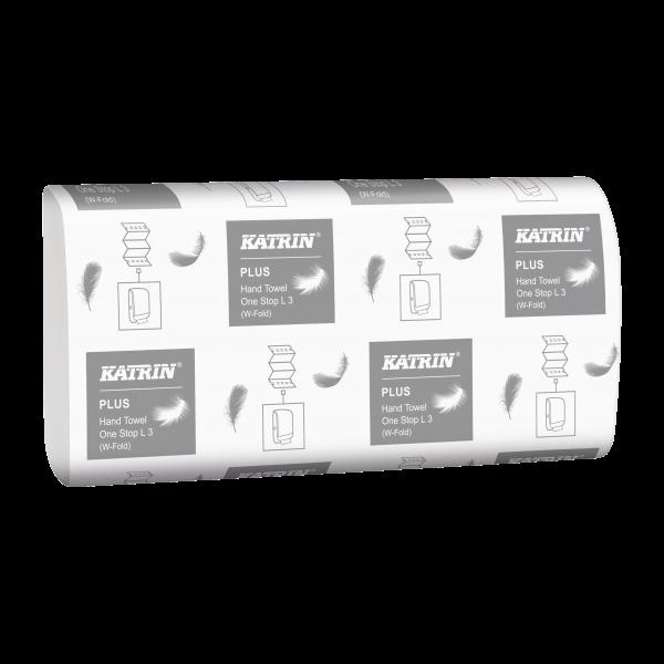 Katrin Plus One-Stop Handtuchpapier L3, 3-lagig,weiß, 34 x 20,6cm - 344020