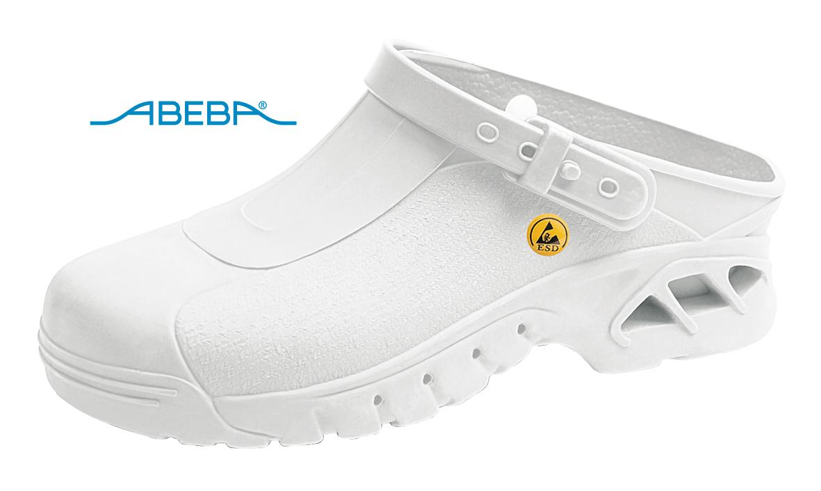 ABEBA Autoklavierbare Clog 9600|39600 ESD Clogs Berufsschuh Arbeitsschuh weiß