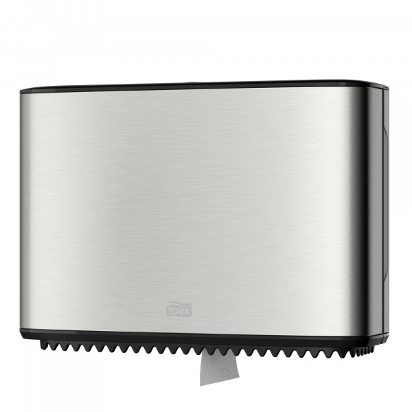 Tork (T2) Toilettenpapierspender WC-Papier Spender Mini Jumborollenspender Kunststoff/Edelstahl - 460006