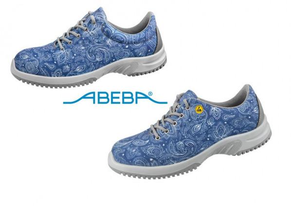 ABEBA Sicherheitsschuh S1 Halbschuh blau/gemustert UNI6 1724 | 31724 ESD