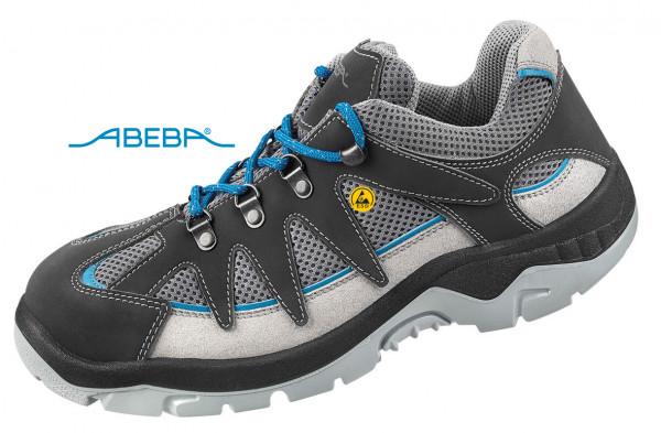 ABEBA Sicherheitsschuh Anatom 2290|32290 ESD S1 Arbeitsschuh Halbschuh grau-blau