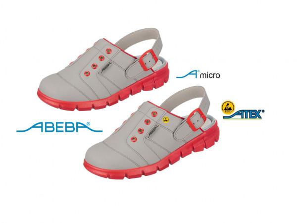 ABEBA Dynamic 7363|37363 ESD Berufsschuh Clog grau/rot