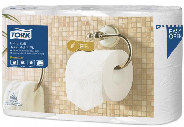 Tork T4 Toilettenpapier/WC-Papier 4-lagig, weiß, 42 Rollen - 110405