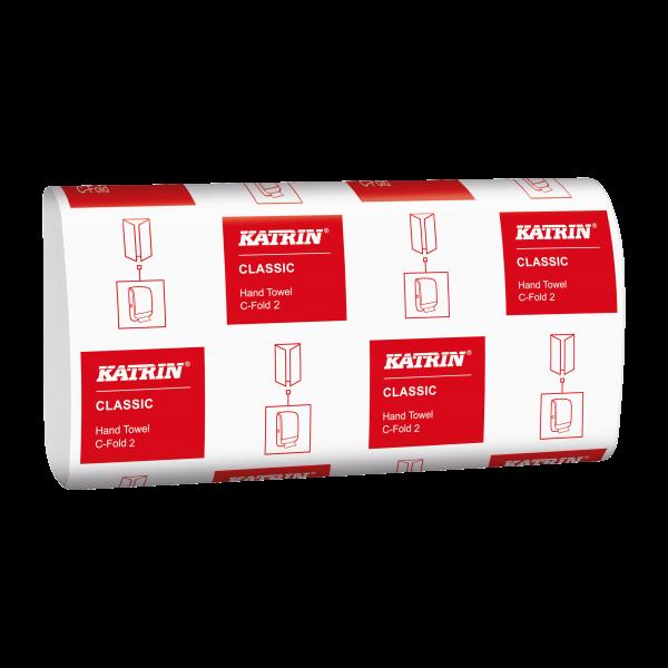 Katrin Classic Handtuchpapier C-Falz, 2-lg,weiß, 24x33cm - 343305