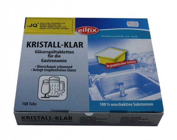 Eilfix Kristall-Klar Gläserspültabeltten 168 x 10 g